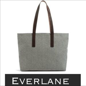 Auth Everlane canvas and leather tote bag purse